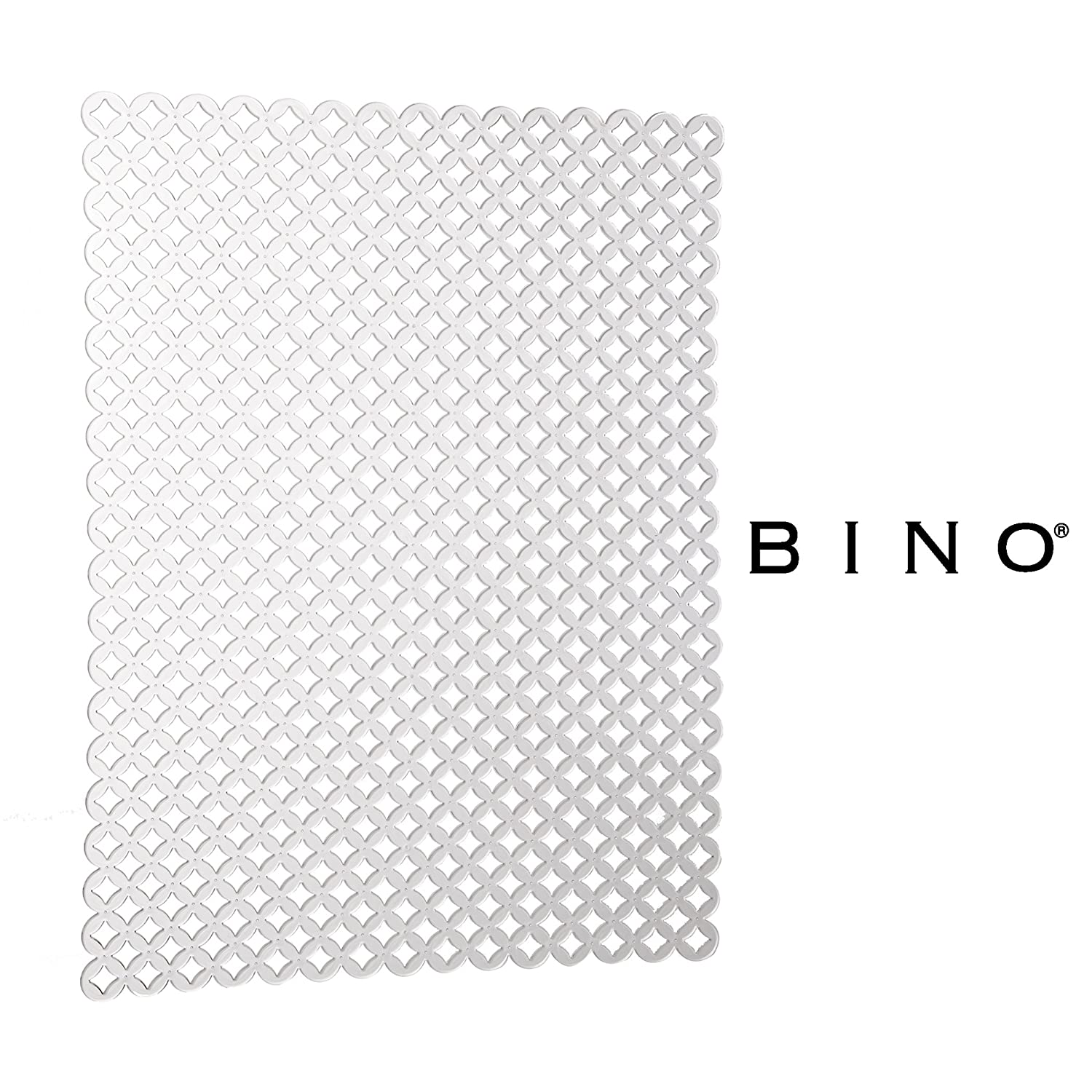 BINO Anti-Bacterial Kitchen Sink Protector Mat, Clear - Eco-Friendly - Mold and Mildew Resistant with Quick Draining Design 30503-CLR