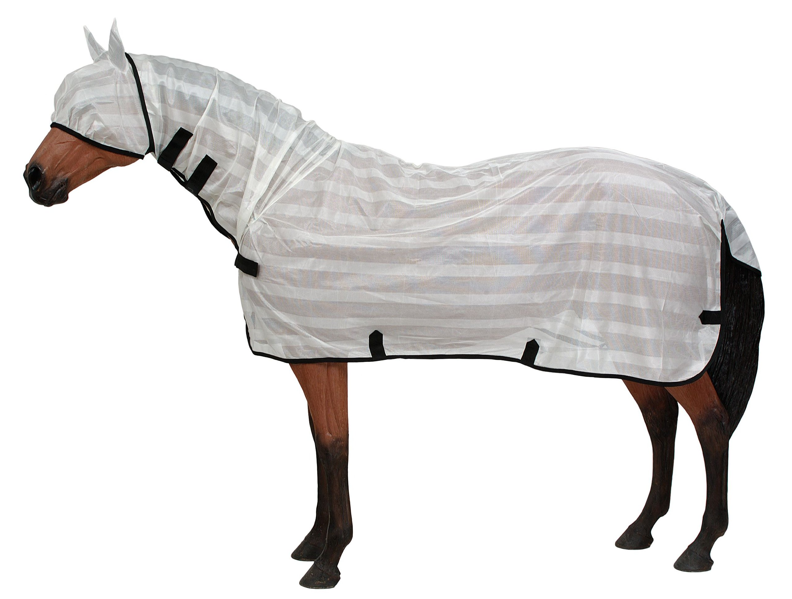 Tough 1 Contour Poly Fly Sheet with Neck Cover, Large