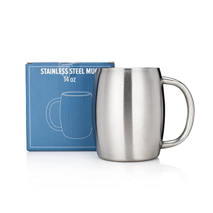 amazon com stainless steel coffee mug by avito 14 oz double