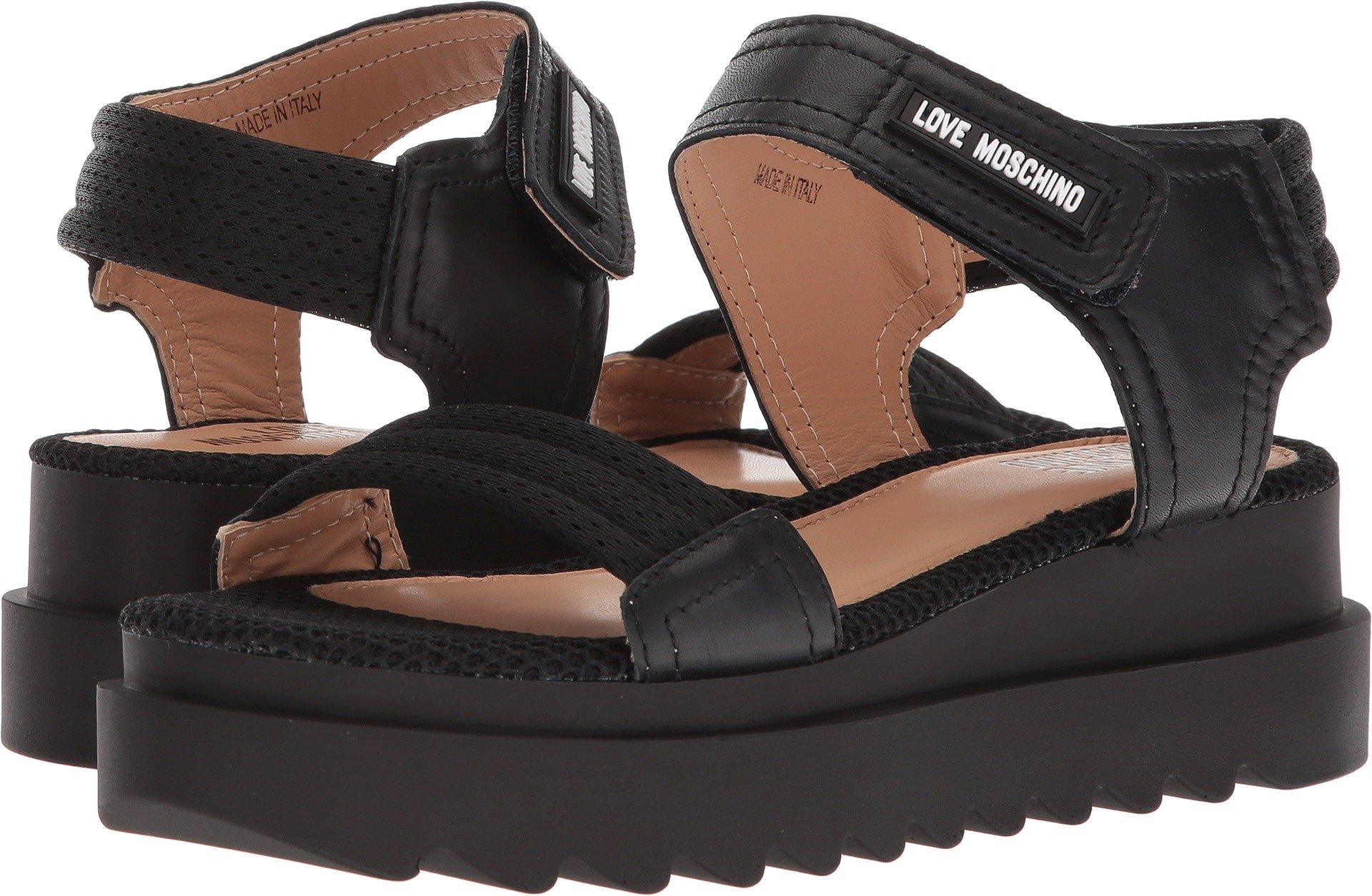 Love Moschino Women's Mesh Sandal Black 38 M EU