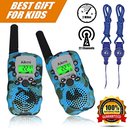 Kids Walkie Talkies 22 Channels 3 Miles FRS//GMRS Hand Held Walkie Talkie for Kids Toys for 4-5 Year Old Boys /…