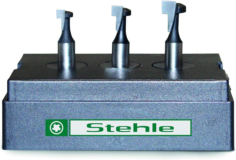 HM//HW-Oberfräser-Satz 24 teilig  in Holzkasette Schaft 8 mm Stehle