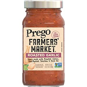 Prego Pasta Sauce, Farmers' Market Tomato Sauce with Roasted Garlic, 23.5 Ounce Jar (Pack of 6)