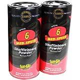 Sun-Glo Speed #6 Shuffleboard Table Powder Wax Bundled with a Sun-Glo Shuffleboard Sweep