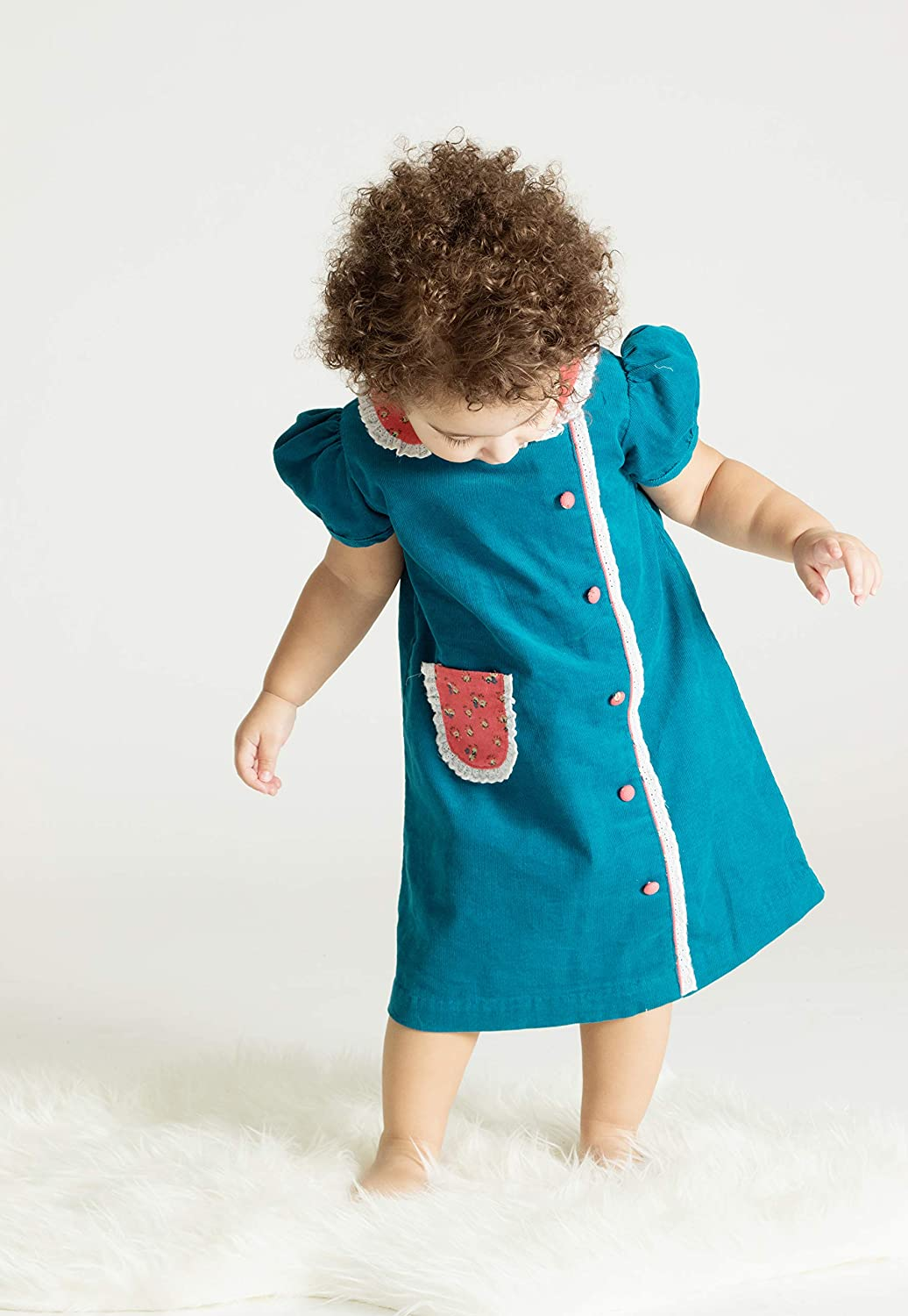 Easy Retro Halloween Costumes – Last Minute Ideas Carriage Boutique Girls Short Sleeve Blue A-Line Dress $46.00 AT vintagedancer.com