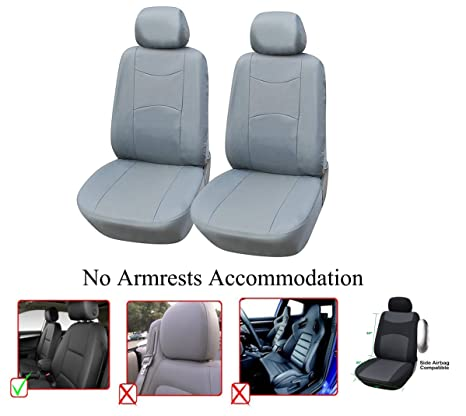 Vinyl Leather 4PC Set Toyota Highlander Car Seat Covers 2 Front