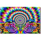 Amazon Price History for:1x Poster Psychedelic Trippy Colorful Ttrippy Surreal Abstract Astral Digital Art Office Home Room Wall Deco