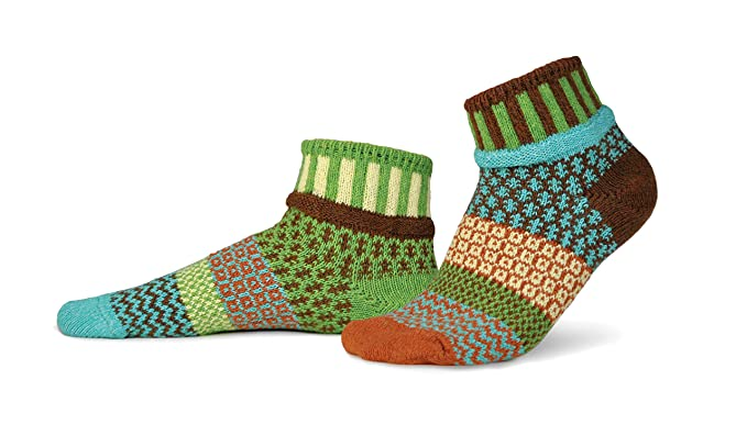 Mismatched Ankle Socks USA Made Recycled Cotton Yarns Solmate Socks