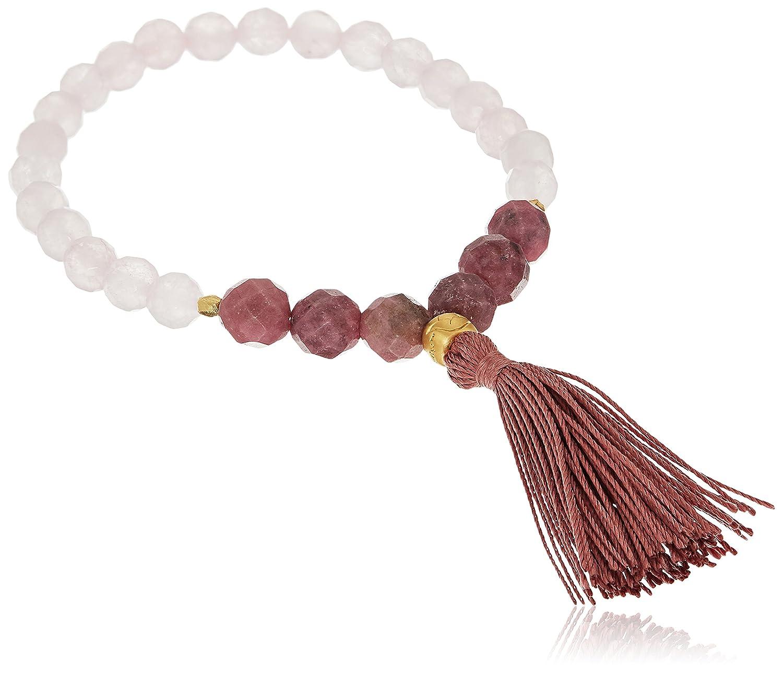 Satya Jewelry Mala Bracelets Rose Quartz Charm Bracelet BGM-35