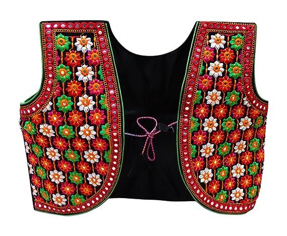 PEEGLI Frauen Banjara Rajasthani Shrug Choli Kutch Bestickt Indische ...