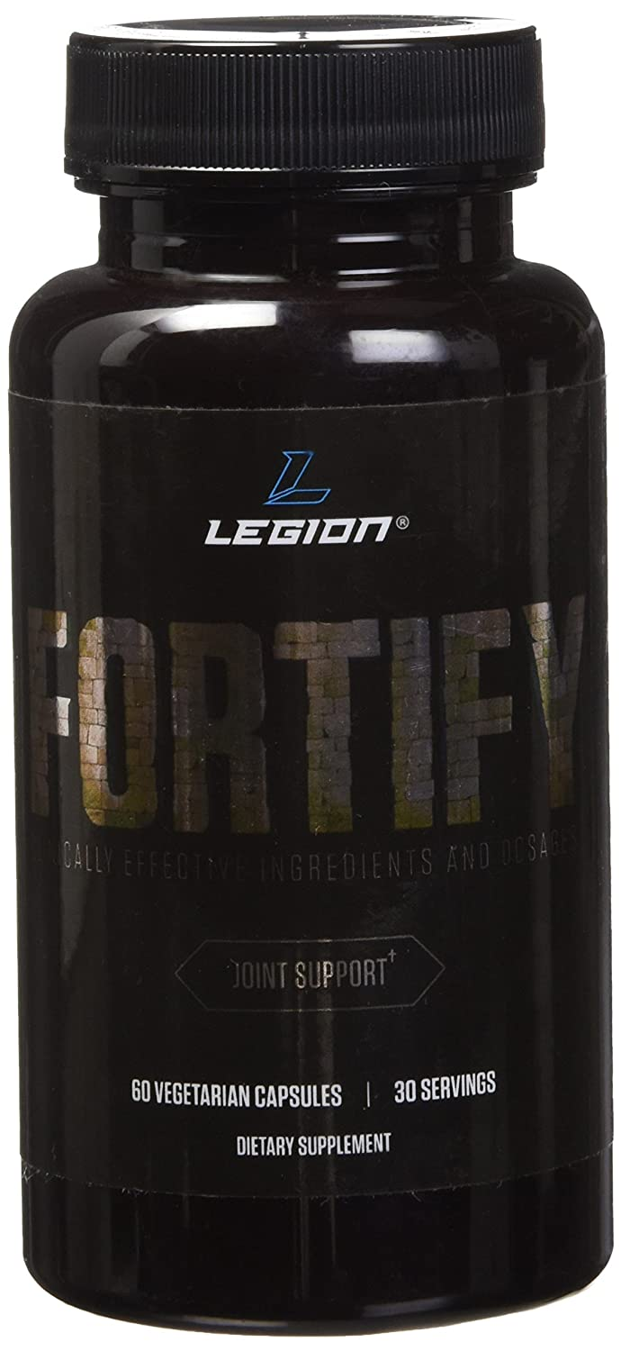 Legion Fortify Joint Pain Supplement   Natural Remedy For Anti Inflammation And Rheumatoid Arthritis Relief. Reduces Stiffness In Jaw, Facet, Si, Hands,... by Legion Athletics