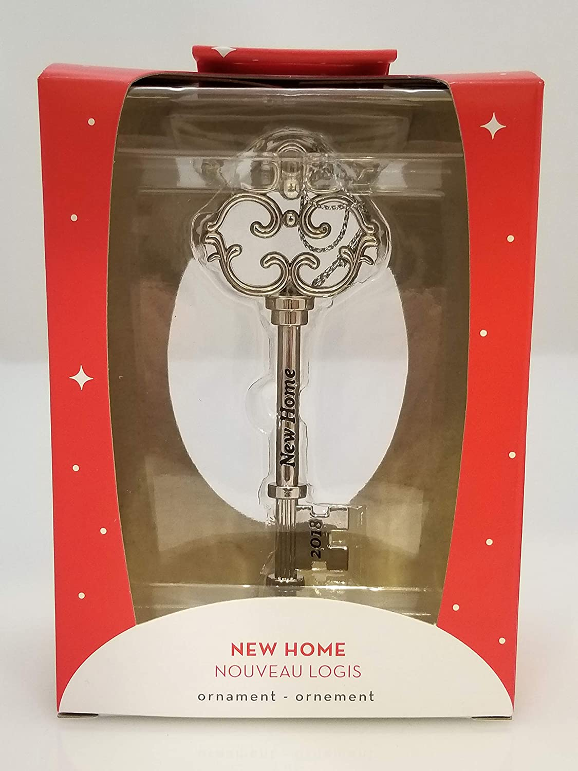 American Greetings 2018 New Home Key Christmas Tree Ornament, One Size, Silver