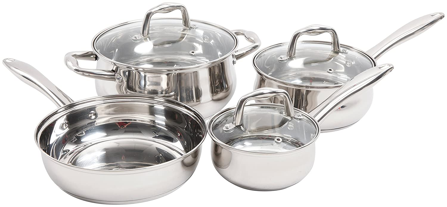 Sunbeam 112045.07 Branson 7 Piece Cookware Set, Stainless Steel
