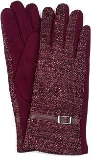 Damen Handschuhe Strass Glitzer-Steine Fleece Futter Winter Winterhandschuhe