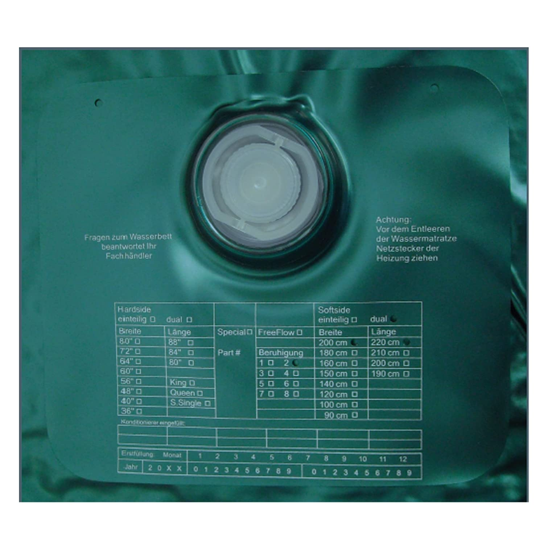 ABBCO Eezy Wassermatratze - Wasserkern Softside für Duales WB 200x220 cm F0 = Nachschwingzeit ca. 10-15 Sek