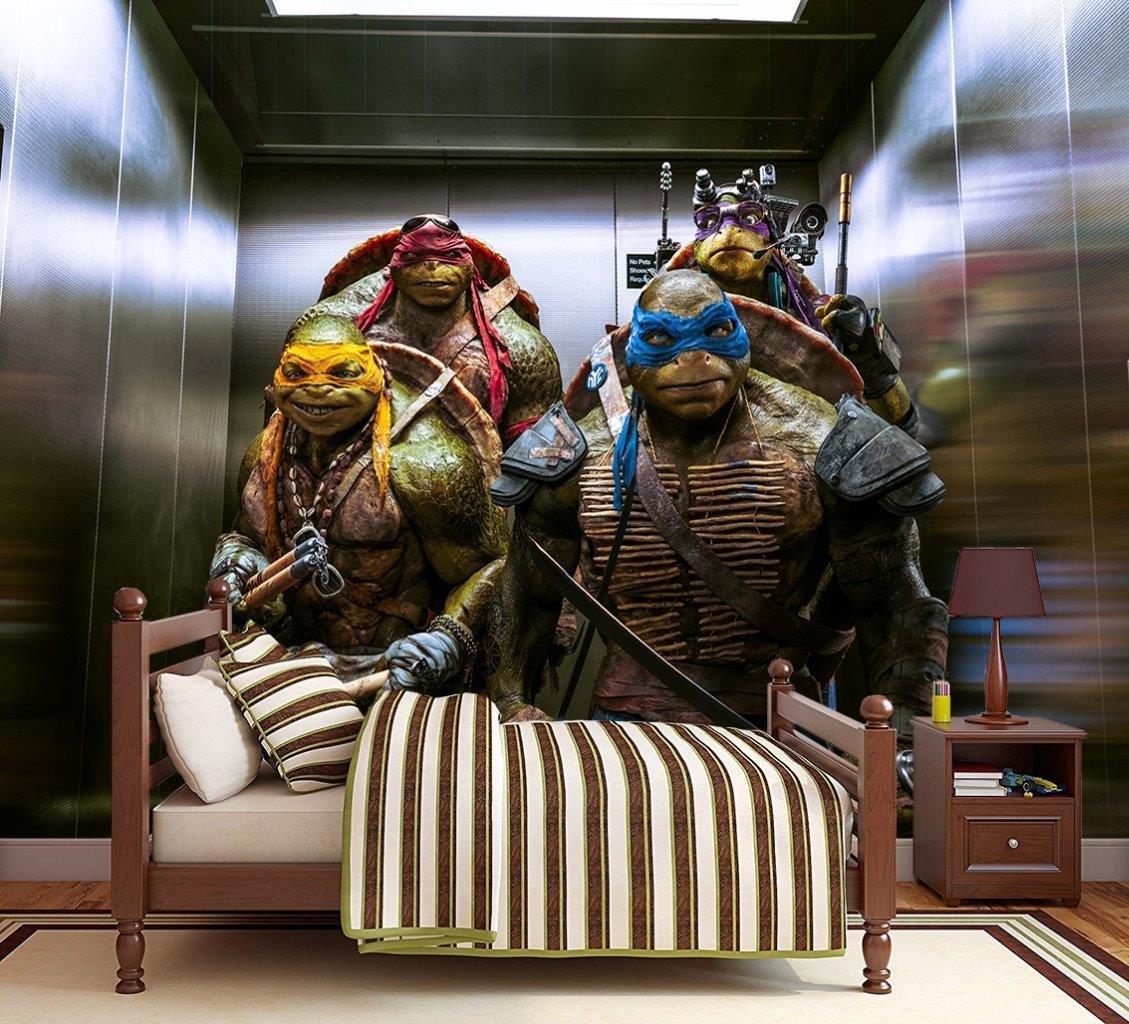 Amazon.com: Dizzy Ninja Turtles TMNT Photo Wallpaper Woven ...