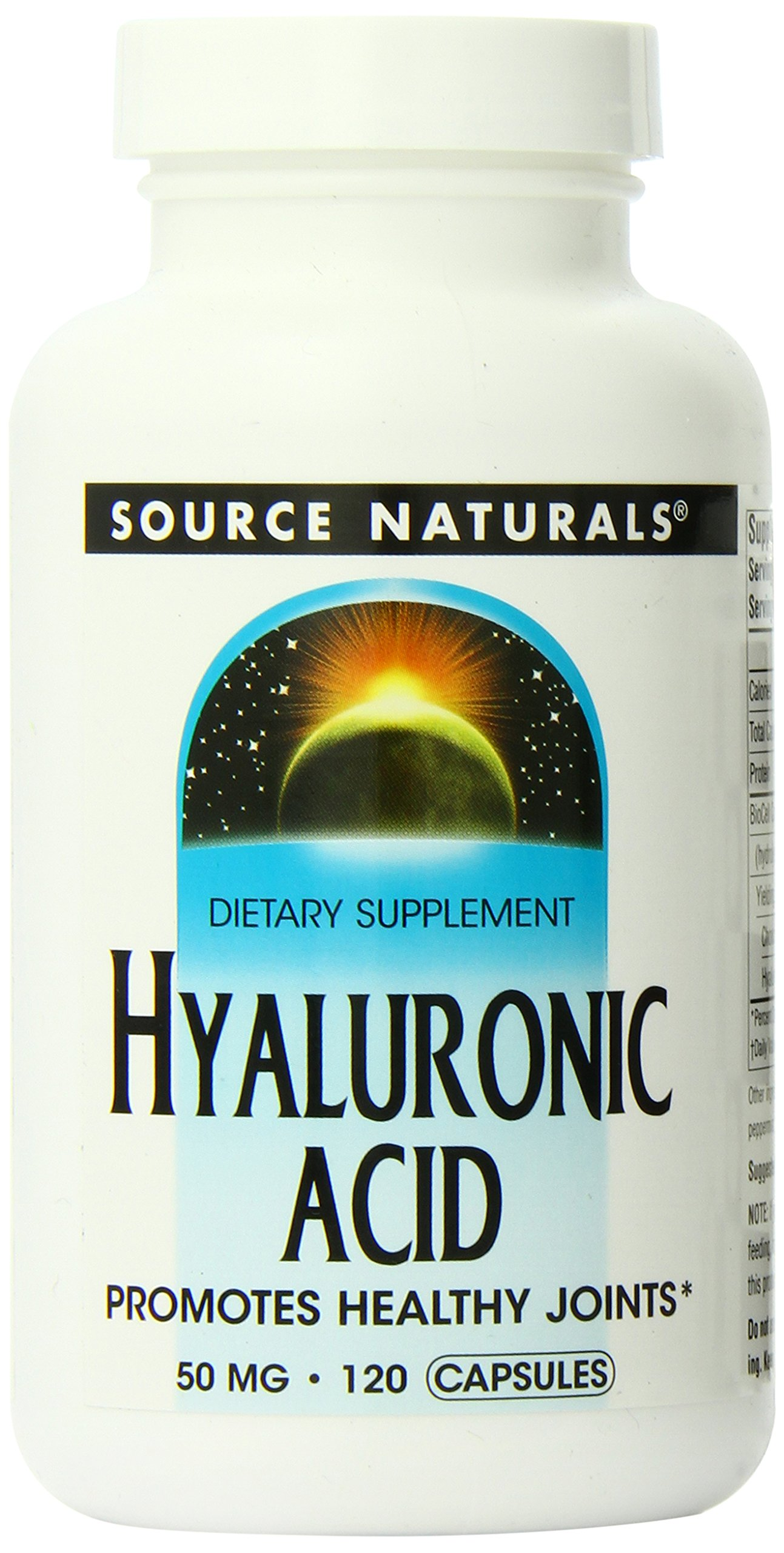 Source Naturals Hyaluronic Acid 50mg, 120 Capsules