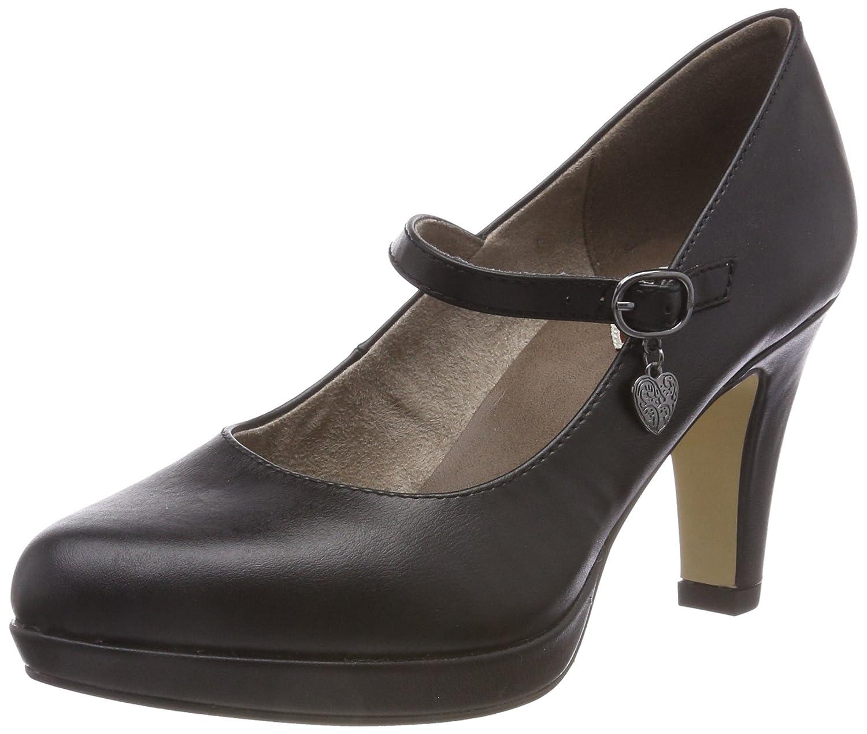 s.Oliver 24400-31, Zapatos de Tacón para Mujer 41 EU|Negro (Black Nappa 22)