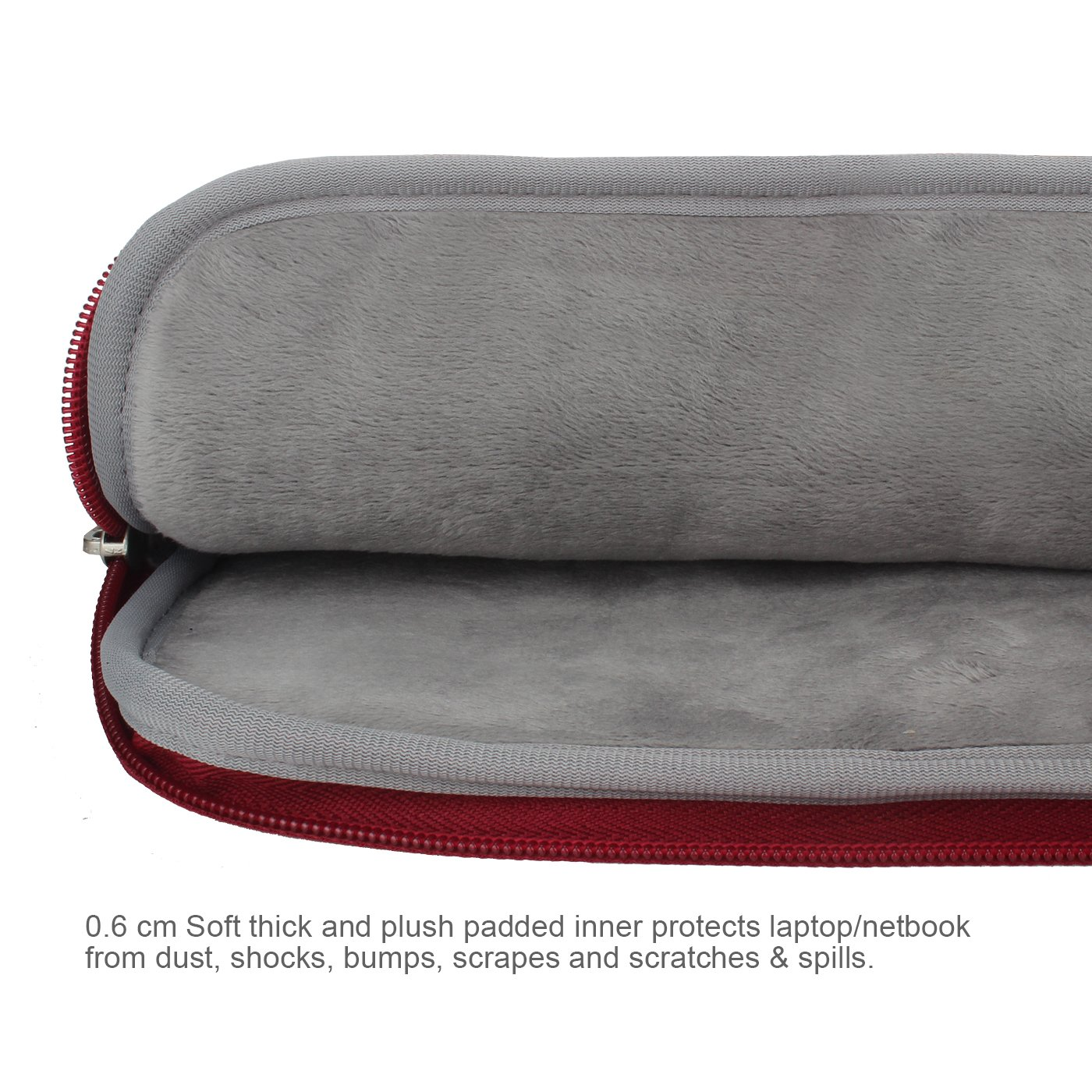 Arvok 15 15.6 16 Inch Water-resistant Canvas Fabric Laptop Sleeve With Handle&Zipper Pocket/Notebook Computer Case/Ultrabook Briefcase Carrying Bag/Pouch Cover For Acer/Asus/Dell/Lenovo/HP,Wine Red by ARVOK (Image #5)