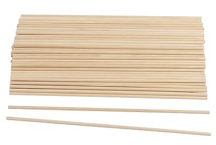 Amazon Com Wood Dowel Rods 100 Pack Wood Sticks