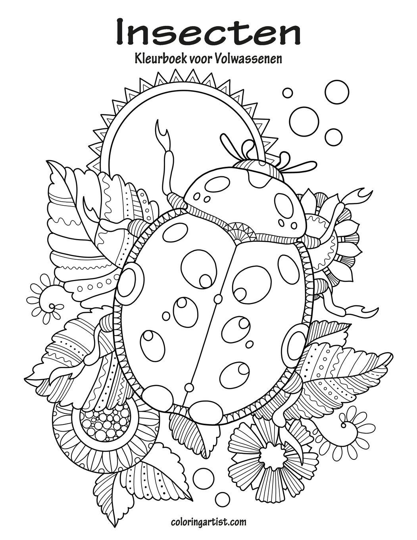 Kleurplaten Van Insecten.Amazon Com Insecten Kleurboek Voor Volwassenen 1 Volume 1 Dutch