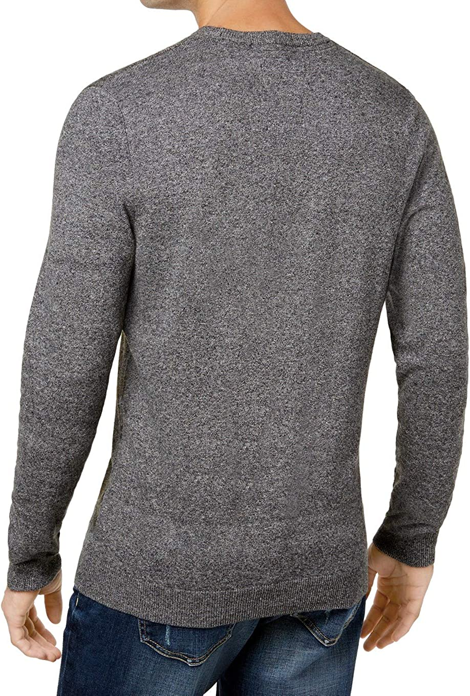 American Rag Mens Leaf Print Knit Crewneck Sweater