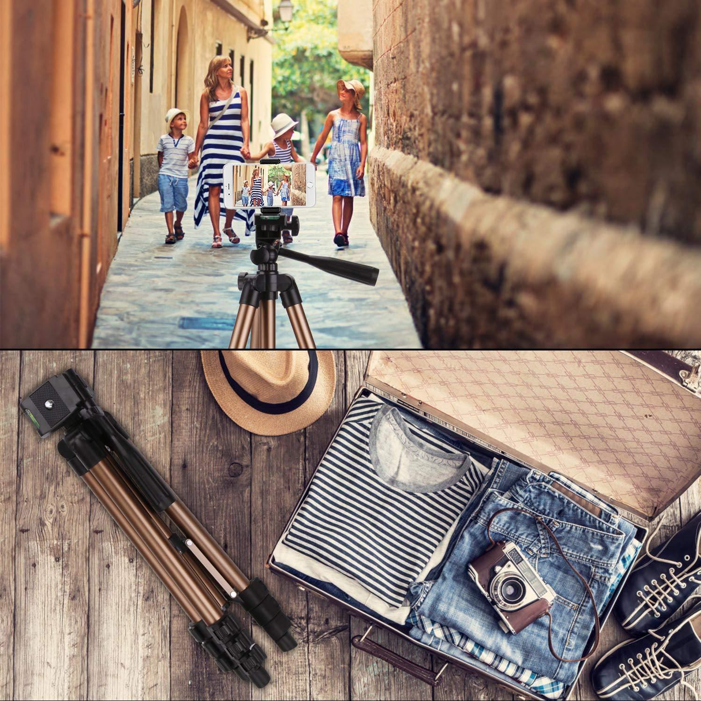 Tripod for iPhone X PEYOU 42 Aluminum Camera Tripod Wireless Remote Shutter Galaxy Note 9 8 S10 S9 S8 Plus Universal Smartphone Holder Mount Compatible for iPhone Xs MaxXR X 8 Plus 7 6 6S Plus
