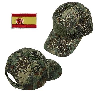 Xidan CFL Gorra Sombrero para Sol de Malla Táctica de Deporte Béisbol Camuflaje Militar para Hombres con España Parche de Bandera/Parche de Palabras: ...