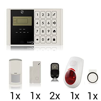 LKM Security ® Kit Alarma Antirrobo sin Hilos wireess Casa ...