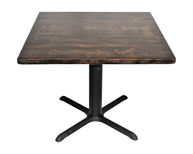 Amazon.com: Square reclaimed wood table, cafe table Pedestal ...