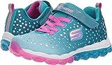 Skechers Skech-Air Star Jumper Girls' Toddler-Youth Sneaker 12.5 M US Little Kid Turquoise-Pink