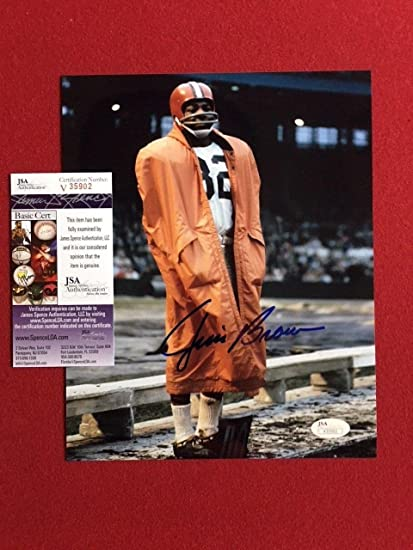 Jim Brown Nfl >> Jim Brown Autographed 8x10 Photo Cleveland Browns