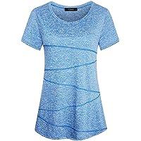iClosam Camiseta para Mujer Yoga Deportiva Colores Lisos