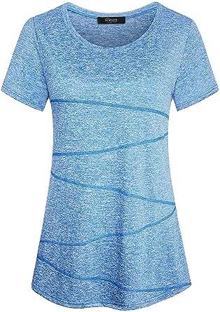iClosam Women's Short Sleeve Yoga Tops Activewear Running Workout T-Shirt Tunic Blouse S-XXL