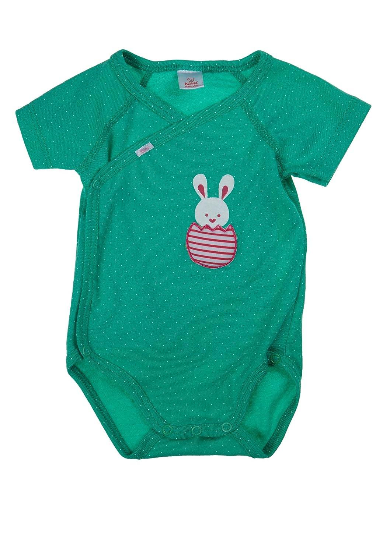 Kanz Baby - Mädchen Body Wickelbody 1/4 Arm, Gepunktet Gr. 56 1515011