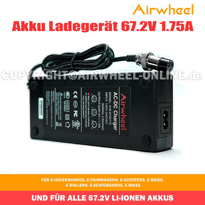 airwheel Chargeur de batterie 67.2 V 1.75 A Chargeur de batterie pour e-scooters Trottinette é lectrique et tous les 67.2 V Batteries Li-Ion