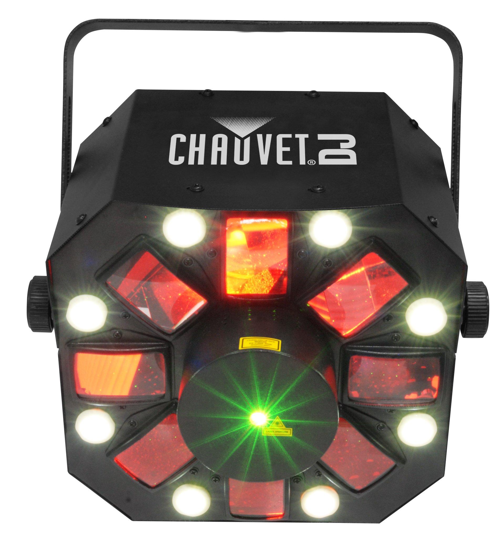 CHAUVET DJ SWARM5FX 3-in-1 Stage Lighting Effect | Laser & Strobe Effects