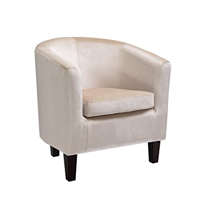 CorLiving LAD 718 C Antonio Club Chair, Cream