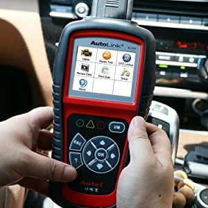 Autel AL519 is an OBD2 scanner that comes with a patented I/M readiness key