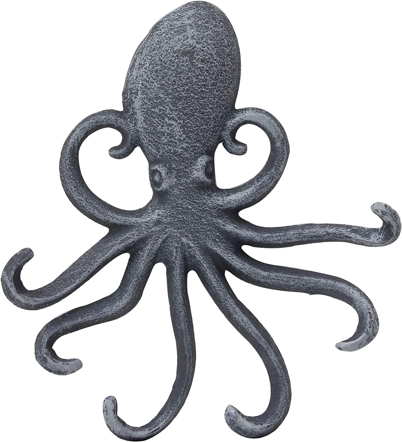 Stonebriar Decorative Cast Iron Octopus Hook