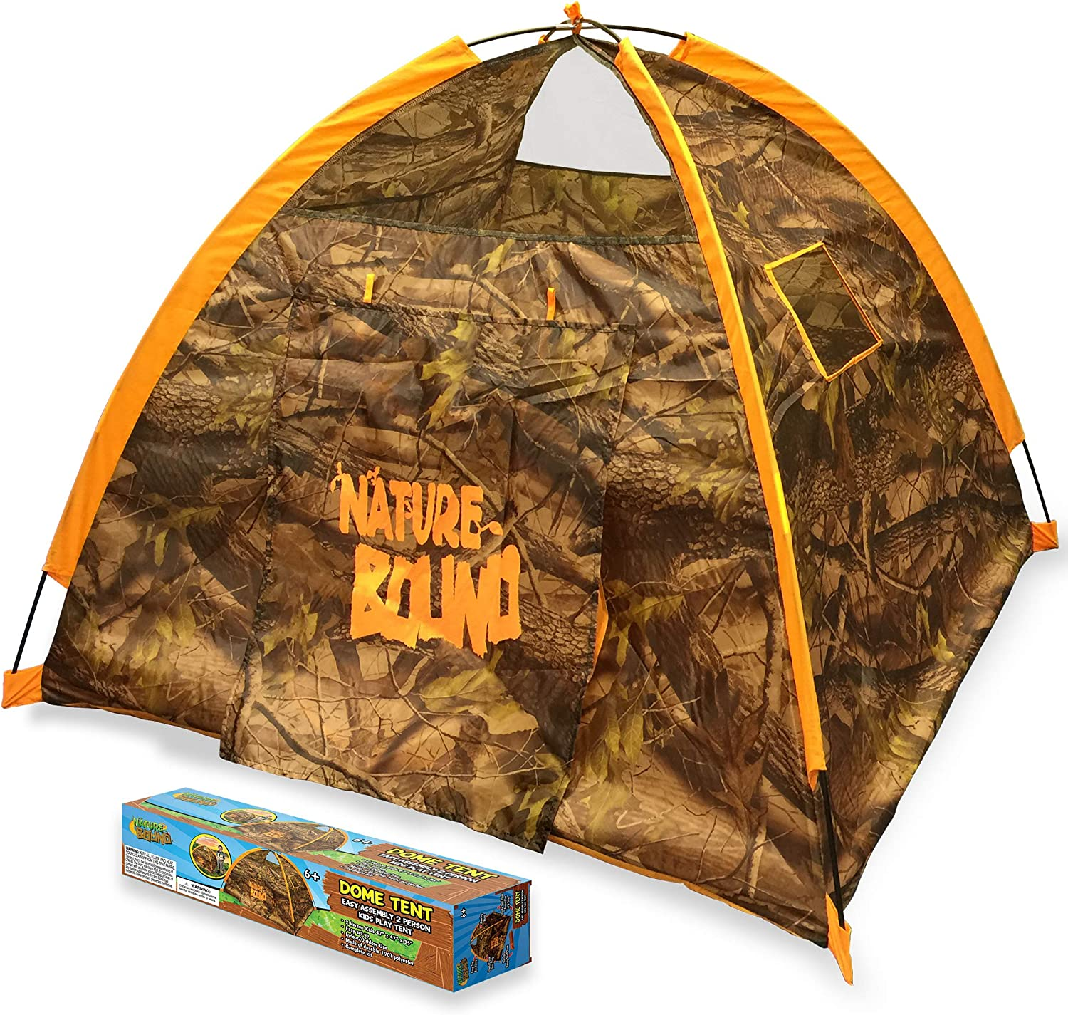 Nature Bound Kids Large 2 Person Playhouse Dome Tent for Indoor or Outdoor Play, 47 Inches Long, 47 Inches Wide, 35 Inches High, Camouflage Pattern for Boys and Girls Ages 6+, (Model: NB540)