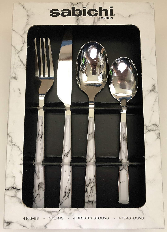 16 Piece Marble Cutlery Set