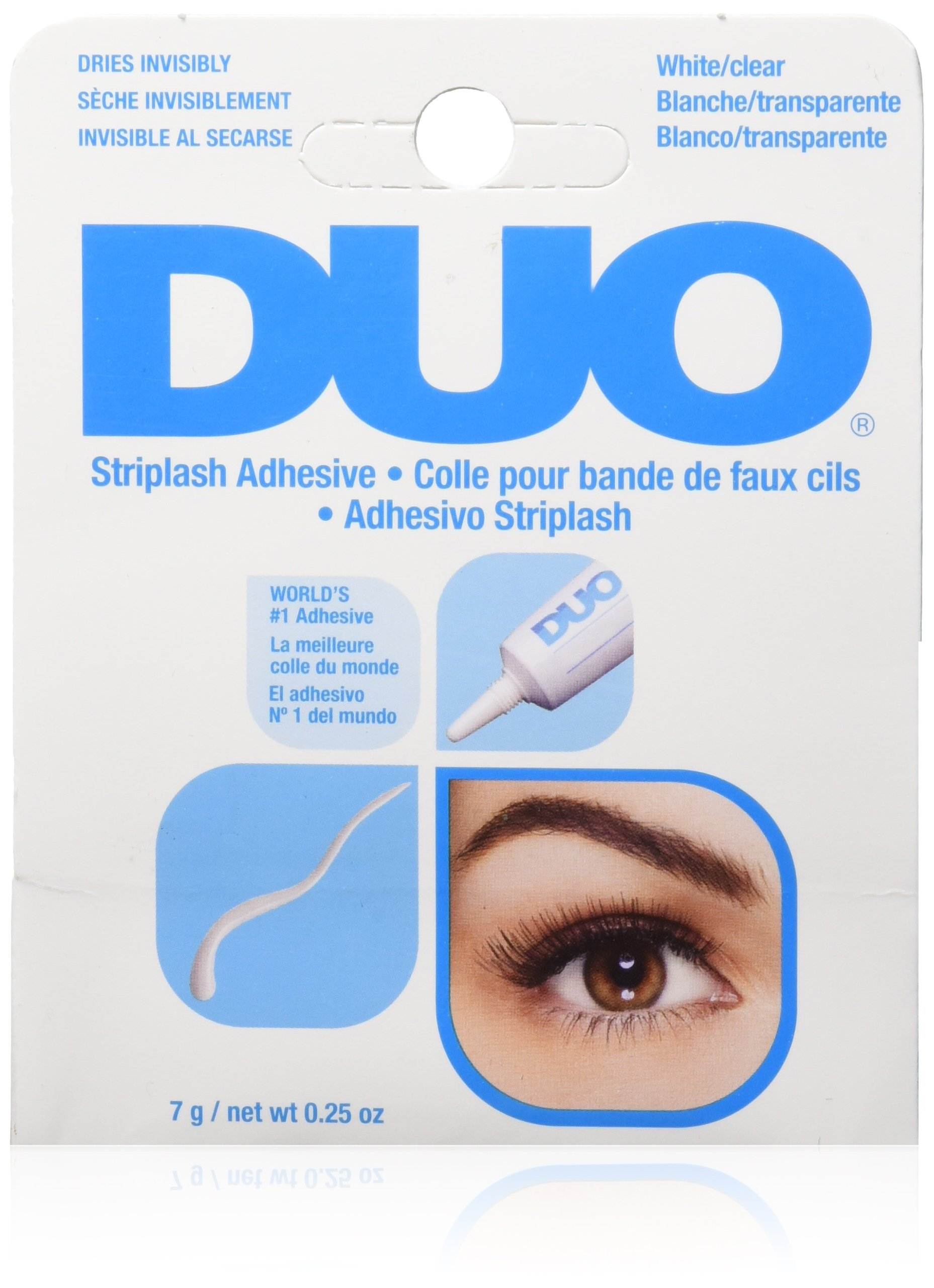 DUO Strip Lash Adhesive White/Clear, for strip false eyelash, 0.25 oz