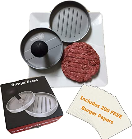 Metal Quarter Pound Meat Patty Maker Burger Press Mold Hamburger Grilling Tool