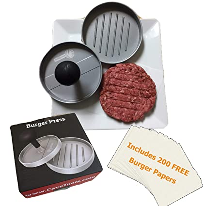 Amazon.com: Cave Tools - Prensa para hamburguesas: Jardín y ...