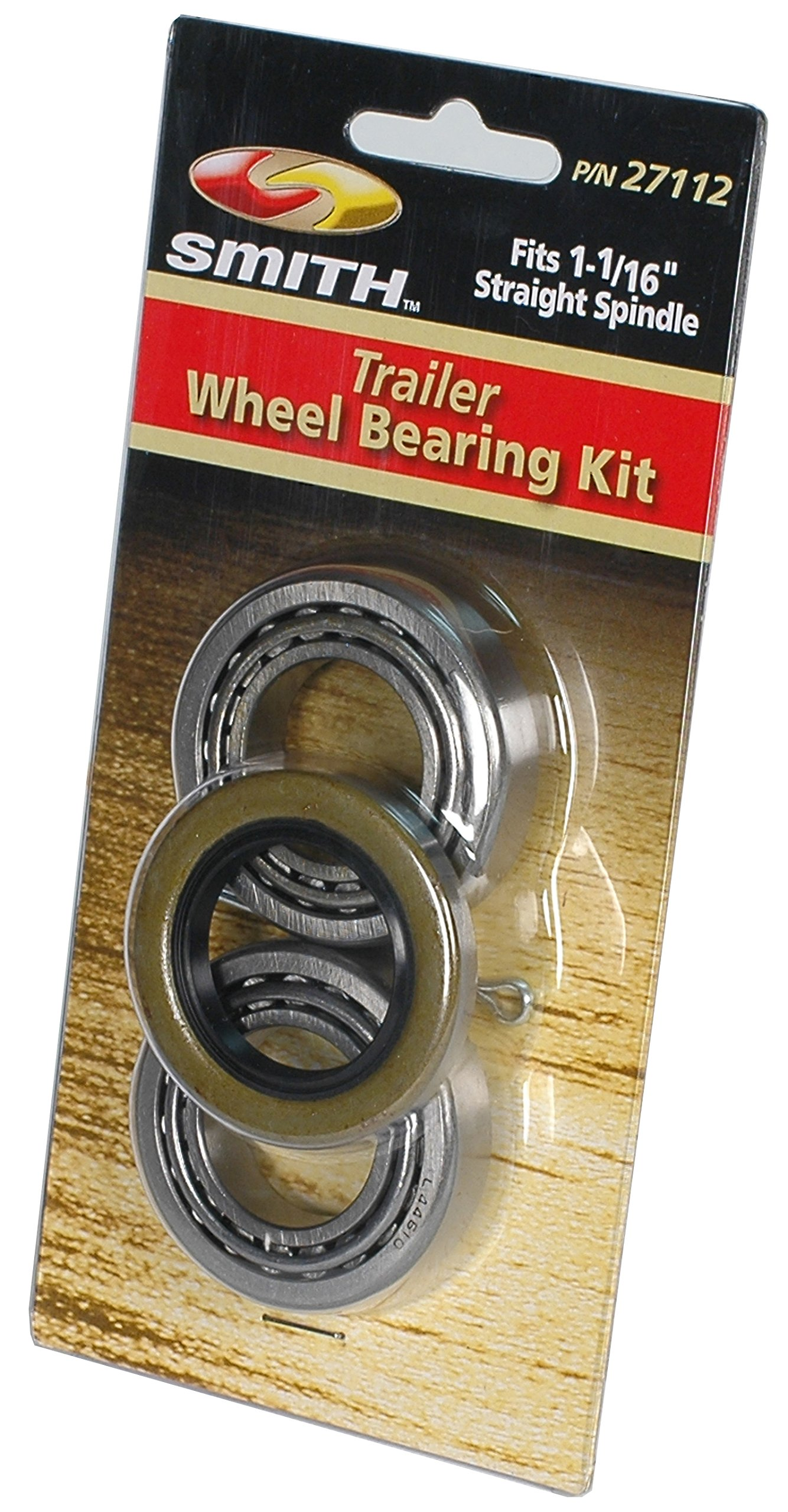 CE Smith Trailer 27112 Bearing Kit (Straight), 1 1/16''- Replacement Parts and Accessories for your Ski Boat, Fishing Boat or Sailboat Trailer