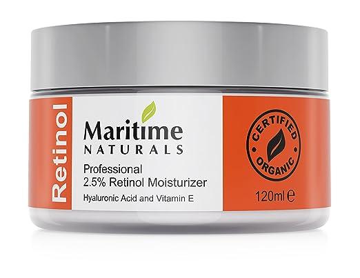 22 opinioni per Maritime Naturals Crema Idratante al Retinolo con Acido Ialuronico e Vitamina E,