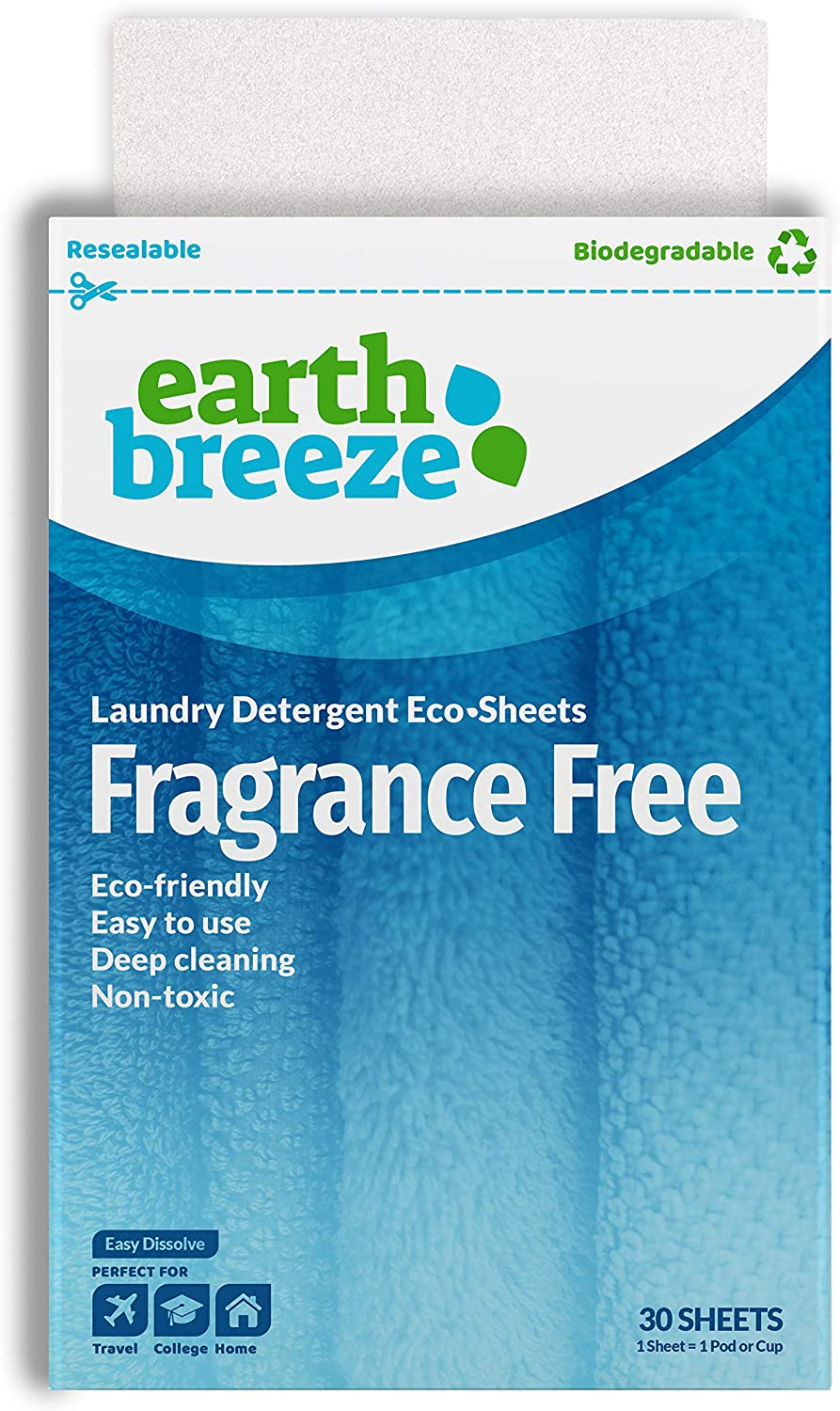 Earth Breeze Fragrance Free Laundry Sheets