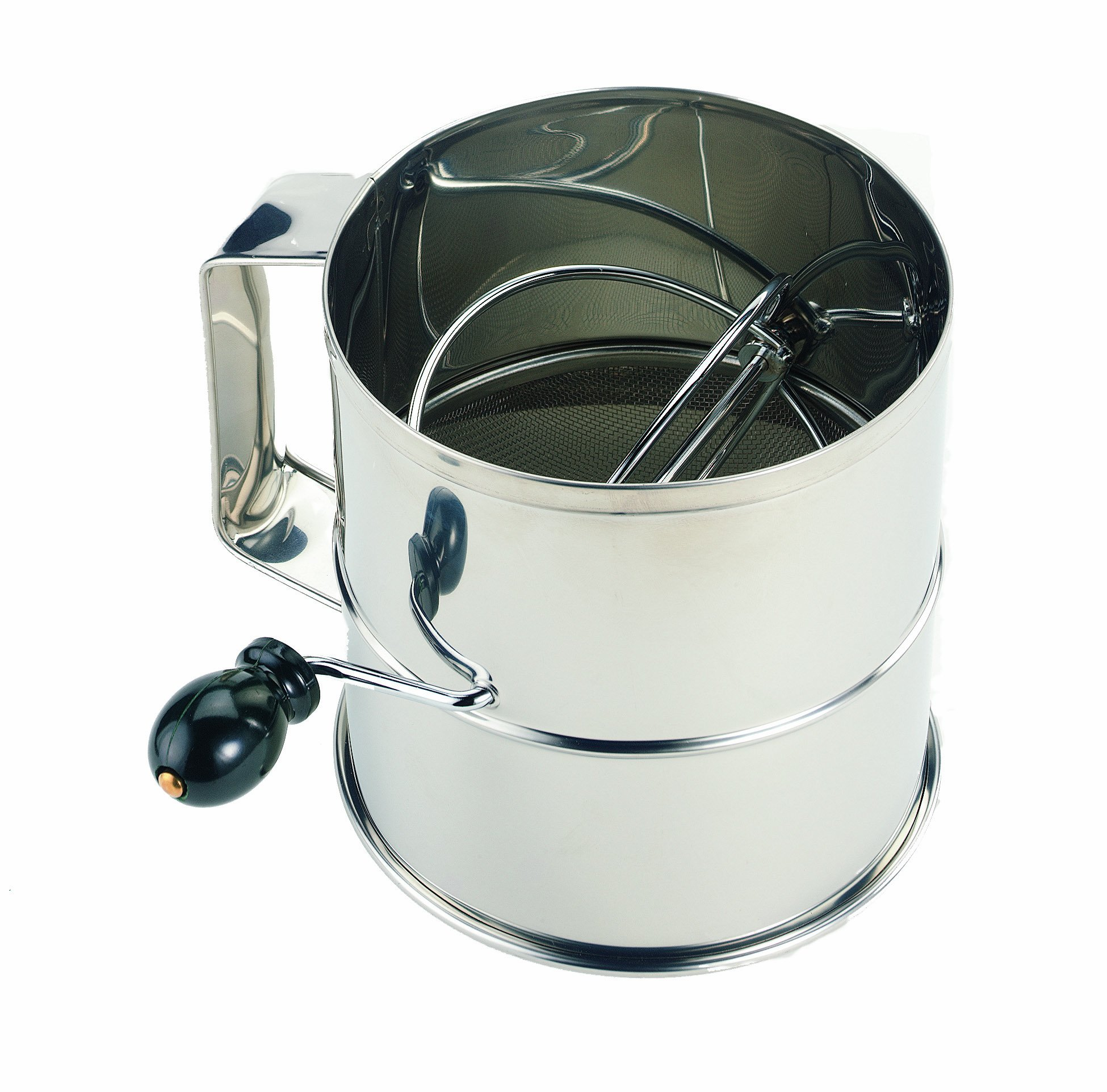 Crestware 8 Cup Stainless Steel Flour Sifter by CRESTWARE