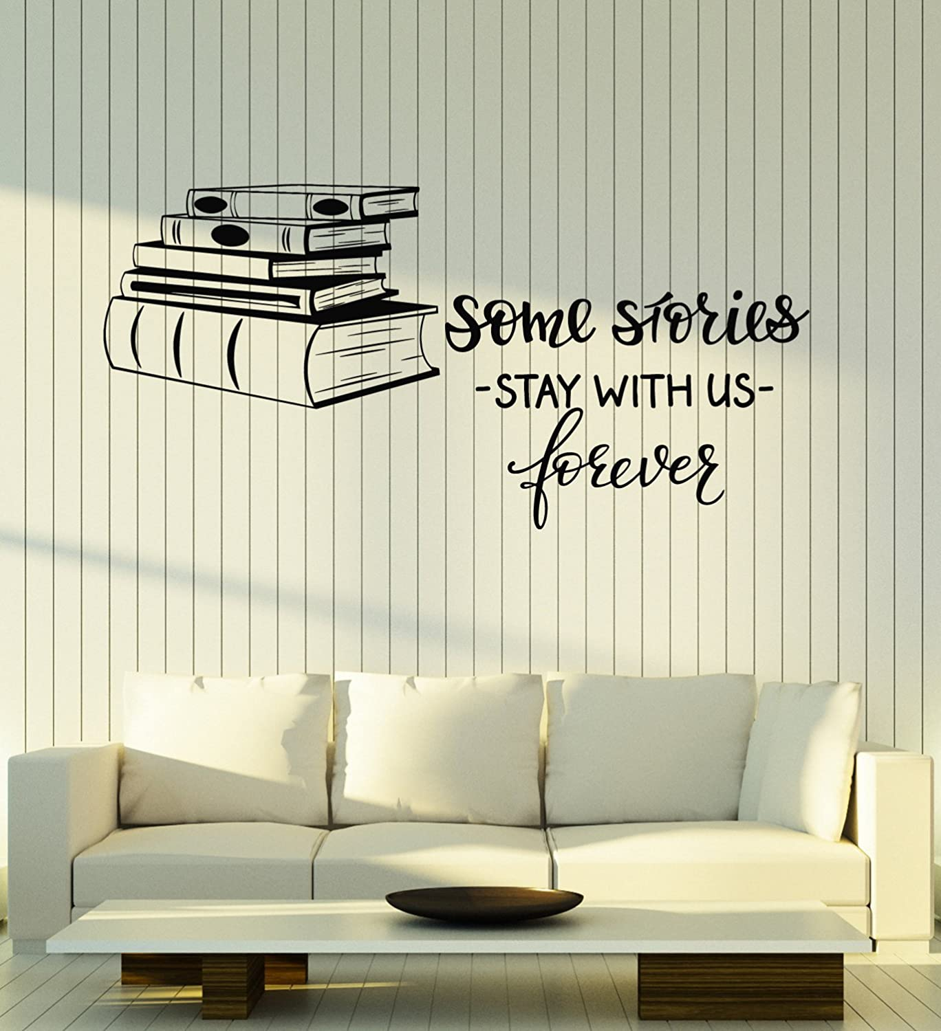 Miraculous Amazon Com Large Vinyl Wall Decal Books Shop Quote Library Creativecarmelina Interior Chair Design Creativecarmelinacom